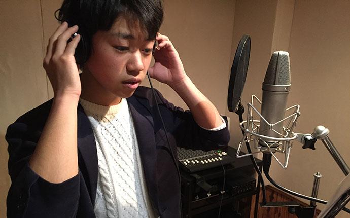 大阪のタレントプロダクション日本放映プロ所属久保田直樹レコーディング風景