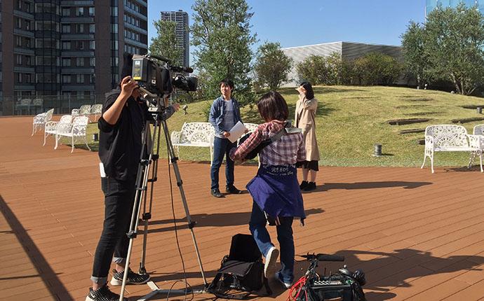 大阪のタレントプロダクション日本放映プロ撮影風景写真