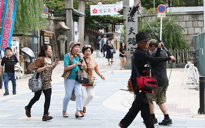 大阪のタレントプロダクション日本放映プロ製作映画撮影風景大阪のおばちゃん関西のおばちゃん