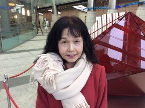 日本放映プロシニアモデル活躍中上杉恭子