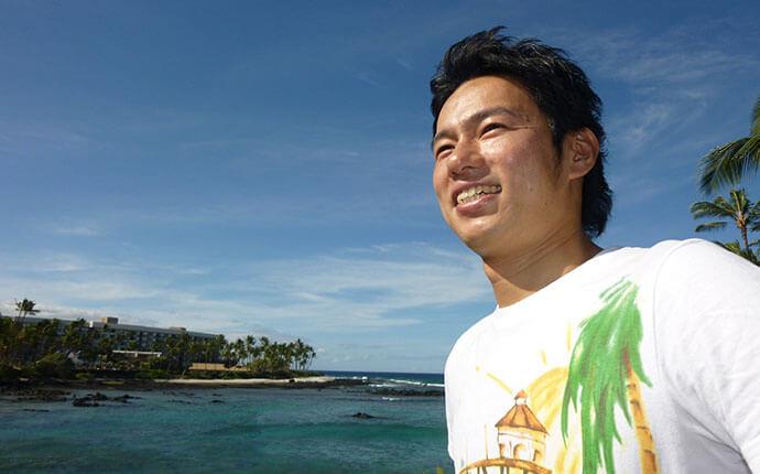 大阪のタレントプロダクション日本放映プロ所属大久保ともゆきハワイで撮影した写真